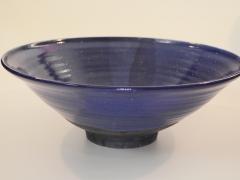 Cobalt Raku Bowl