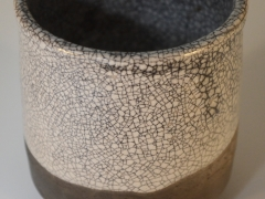 Crackle Glaze Raku Pot