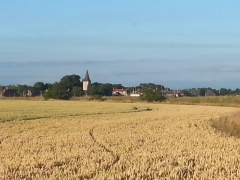 Across the fields to Bosham Church