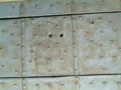 Bullet holes in Italian monastery wall